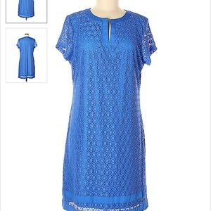 👗IsaacMizrahiLive blue lace dress